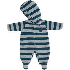 Macacão Bebê Menino em Plush com Capuz Azul - Sonho Mágico :: 764 Kids   Roupa bebê e infantil