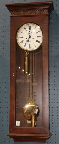 Ant Seth Thomas Regulator No 71 Wall Clock Brass Weight Pendulum