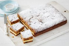 Sticky date cheesecake slice----Upgrade your morning tea and enjoy your cuppa with this spiced sticky date cheesecake slice. Rated 5 out of 5 Stars by 1 person. Jelly Cheesecake, Cheesecake Recipes, Chocolate Caramel Slice, No Bake Slices, Fairy Bread, Buttery Biscuits, Tea Recipes, Sweet Recipes, Recipes Dinner