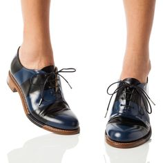 Mr. Smith Black + Navy Striped Women's Oxford – The Office of Angela Scott