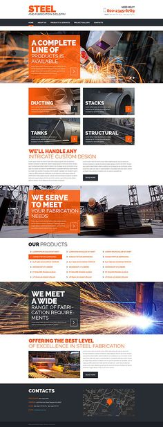 Steel and Fabrication Industry #website #template. #themes #business #responsive