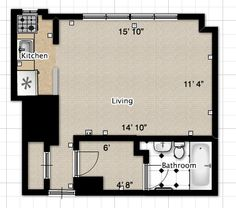 efficiency apartment | ... Questions: Separate Spaces in a Studio Apartment? | Apartment Therapy