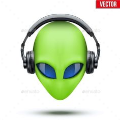 Alien Head with Headphones