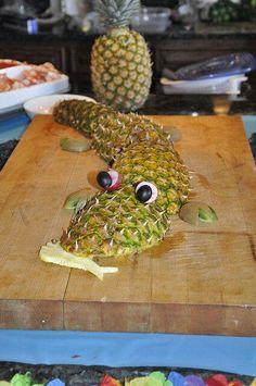 Alligator food art