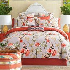 Cotton Floral Duvet Cover Bedding Set. #beddingsets #bedding #decor