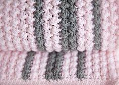 Bobbles+and+Stripes+Crochet+Baby+Blanket+Pattern
