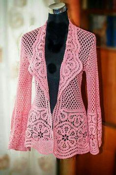 Sueter tejido a crochet