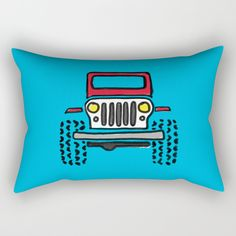 Our Rectangular Pillows are basically oversized Throw Pillows that provide a different look - suitable for the bed or couch. They're comfy enough to sleep on, and a great canvas for art.      - Available in four sizes   - 100% spun polyester poplin fabric   - Double-sided print    - Includes faux down pillow insert   - Individually cut and sewn by hand Jeep Drawing, Oversized Throw Pillows, Down Pillows, Poplin Fabric, Pillow Inserts, Hand Sewing, Sleep, Comfy, Canvas
