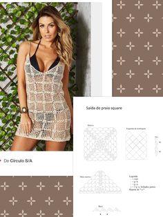 Diy Crafts - This post was discovered by De Girls Knitted Dress, Crochet Beach Dress, Crochet Summer Dresses, Knit Dress, Crochet Bikini, Crochet Cover Up, Crochet Coat, Crochet Cardigan, Crochet Clothes