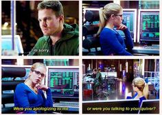 Arrow - Felicity & Oliver #2.10 #Season2 #Olicity