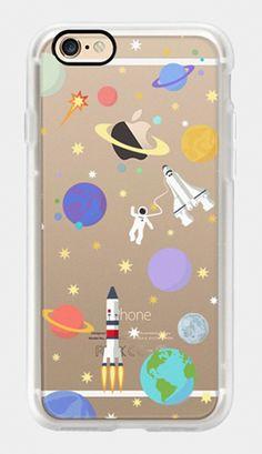 Iphone 7 'Space rocket' transparent case by Marta Olga Klara