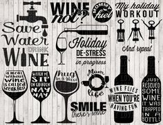 wine svg bundle wine clipart svg files for by goodsbygirl on Etsy