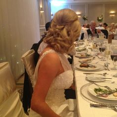 My beautiful friend Joanne who's hair I got to do for her big day