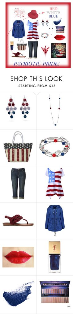 """""""Patriotic Pride - Red, White & Blue!"""" by audkoppe on Polyvore featuring Kim Rogers, Cappelli Straworld, Simply Vera, Fergie, Boohoo, Yves Saint Laurent, By Terry and Betmar"""