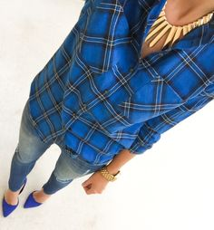 Fall Shades Of Blue Outfit Idea by For The Love Of Fancy