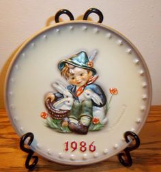 1986 M.J. HUMMEL PLATE 16TH ANNUAL PLATE HAND PAINTED