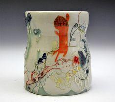 Hand painted ceramics by Michelle Summers - Inspiring handmade at #ImaginativeBloom :)