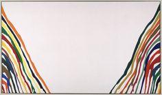#ABSTRACCIÓN POSTPICTÓRICA.esta obra es de Morris Louis y se llama Alpha Pi.he elegido esta obra porque en ella se utiliza básicamente el color con una ausencia de formas sin una intención previa de transmitir un mensaje.