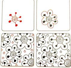 #Zentangle Pattern: Daiz by Suzanne McNeill