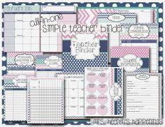 http://www.teacherspayteachers.com/Product/All-in-One-Simple-Style-Teacher-Binder-Pink-Navy-Teal-1247252