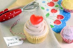 soap soap soap!  heart topped cupcake  red cherry soap www.latikasoap.com