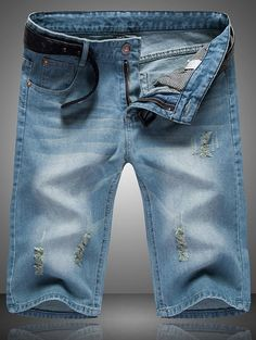 SHARE & Get it FREE | Ripped Cat's Whisker Design Zip Fly Straight Legs Men's Denim ShortsFor Fashion Lovers only:80,000+ Items • New Arrivals Daily • Affordable Casual to Chic for Every Occasion Join Sammydress: Get YOUR $50 NOW!