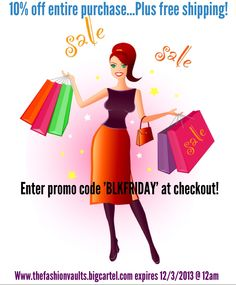 Black Friday Sale Alert!!! Take advantage of this great offer 10% off everything online plus Free Shipping!!! Plus a Free gift with purchase!!! Don't delay order today!!!