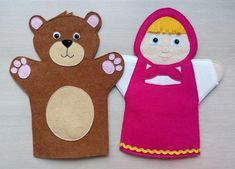 Felt Puppets, Puppets For Kids, Baby Crafts, Felt Crafts, Diy For Kids, Crafts For Kids, Tom Y Jerry, Kids Part, Puppet Making