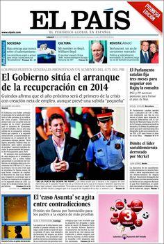 Los Titulares y Portadas de Noticias Destacadas Españolas del 28 de Septiembre de 2013 del Diario El País ¿Que le pareció esta Portada de este Diario Español?