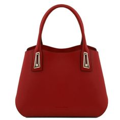 Borsa a mano in pelle Rosso Leather Hobo Bags, Italian Leather Handbags, Leather Wallet, Leather Handle, Smooth Leather, Trendy Purses, Flora, Evening Bags, Fashion Bags