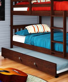 Love this Cappuccino Trundle Bed by Donco Kids on #zulily! #zulilyfinds