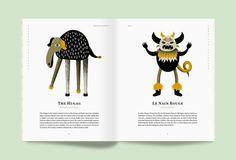 Le creature fantastiche del Nordamerica in una fanzine illustrata, illustrazioni di Coert du Bois