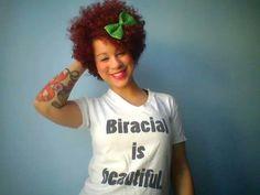 Curly beautiful biracial hair.