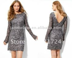 chic sequin long sleeve bridesmaid dresses on AliExpress.com. $119.00 this is similar to the one I saw. Love the grey. I really like the long sleeve idea.