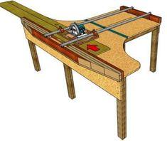 Panel Saw Woodworking Skills, Woodworking Workshop, Woodworking Techniques, Woodworking Crafts, Woodworking Plans, Circular Saw Table, Best Circular Saw, Serra Circular, Router Lift