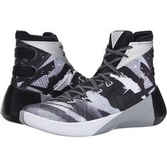 Nike Hyperdunk 2015 PRM (White/Wolf Grey/Black) Men's Basketball Shoes ($120) ❤ liked on Polyvore featuring men's fashion, men's shoes, grey, mens white high top shoes, mens lightweight running shoes, mens high top shoes, mens hi top shoes and mens gray dress shoes