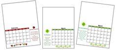 handprint calendar pages