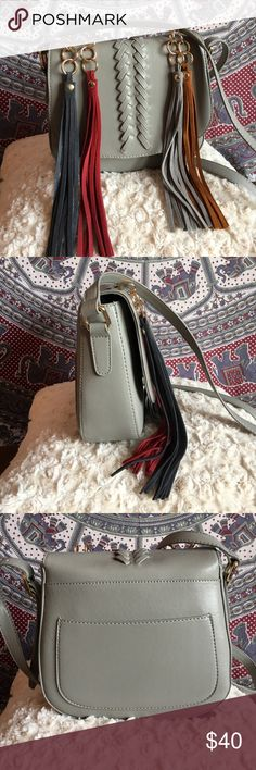 Grey Tasseled Crossbody NWOT lionel Bags Crossbody Bags