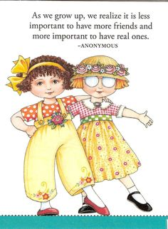 More Important to Have Real Ones Friends Fridge Magnet Mary Engelbreit Artwork | eBay