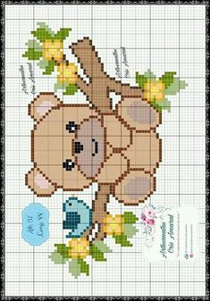 Cross Stitching, Cross Stitch Embroidery, Embroidery Patterns, Cross Stitch Patterns, Knitted Jackets Women, Crochet Baby Clothes, Square Patterns, Cross Stitch Animals, Diy Clay