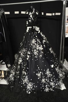 Black Ballgown #Backstage at REEM ACRA #MBFW  It was completely amazing!