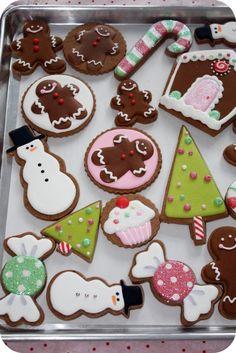 Noël Gâteau Décoration Kit par Ginger Ray Santa Presents Arbre de Joyeux Noël