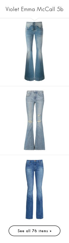 """Violet Emma McCall 5b"" by cheyleexox ❤ liked on Polyvore featuring jeans, pants, bottoms, calças, denim, dark denim, stretchy jeans, high rise flare jeans, flare leg jeans and flared high waisted jeans"