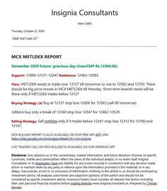 Mcx metaldex copper zinc nickel lead reports tips calls base metals