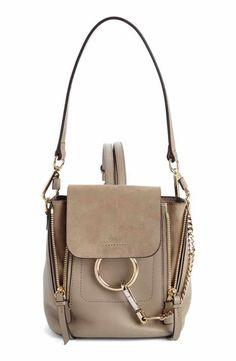 4e869a6a9c5a Chloé Mini Faye Leather   Suede Backpack Mini Backpack Purse