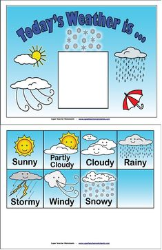 What's today's weather? A fun activity to do with your class!