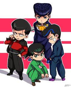 Pixiv Id Yu Yu Hakusho, Mob Psycho JoJo no Kimyou na Bouken, One Punch Man, Onigawara Tenga One Punch Man Anime, Manga Anime, Otaku Anime, Anime Crossover, Psycho 100, Mob Psycho, Manhwa, Yu Yu Hakusho Anime, Slam Dunk Anime