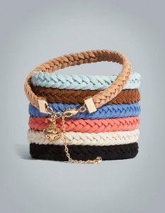H Suede Bracelets