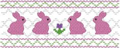 Pink Bunnies Machine Smocking by Elizabeth's Embroideries  http://www.elizabethsembroideries.com