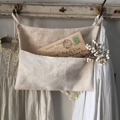 French Linen Pocket by 1871Farmhouse on Etsy https://www.etsy.com/listing/218520880/french-linen-pocket